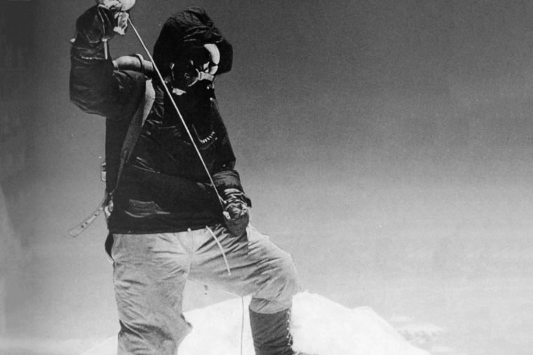 Tenzing Norgay (29 May 1914 – 9 May 1986), referred to as Sherpa Tenzing, was a Nepalese Sherpa mountaineer. Sir Edmund Percival Hillary KG ONZ KBE (20 July 1919 – 11 January 2008) was a New Zealand mountaineer, explorer and philanthropist. On 29 May 1953, Hillary and Nepalese Sherpa mountaineer Tenzing Norgay became the first climbers to reach the summit of Mount Everest. Hillary took the famous photo of Tenzing posing with his ice-axe, according to Tenzing's autobiography Man of Everest, when Tenzing offered to take Hillary's photograph Hillary declined: