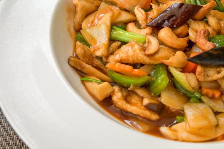 Thai food,Stir-fried Chicken with cashew nuts
