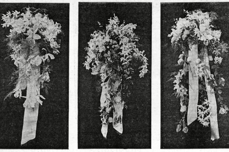 The Bouquet of Queen Victoria the Bride's Bouquet and the Princess of Wales's Bouquet at the Wedding of George Duke of York(later King George V)(1865-1936) to Princess May of Teck(later the Duchess of York Then Queen Mary)(1867-1953) the Blooms Were Supplied by the Royal Exotic Nursery 6th July 1893