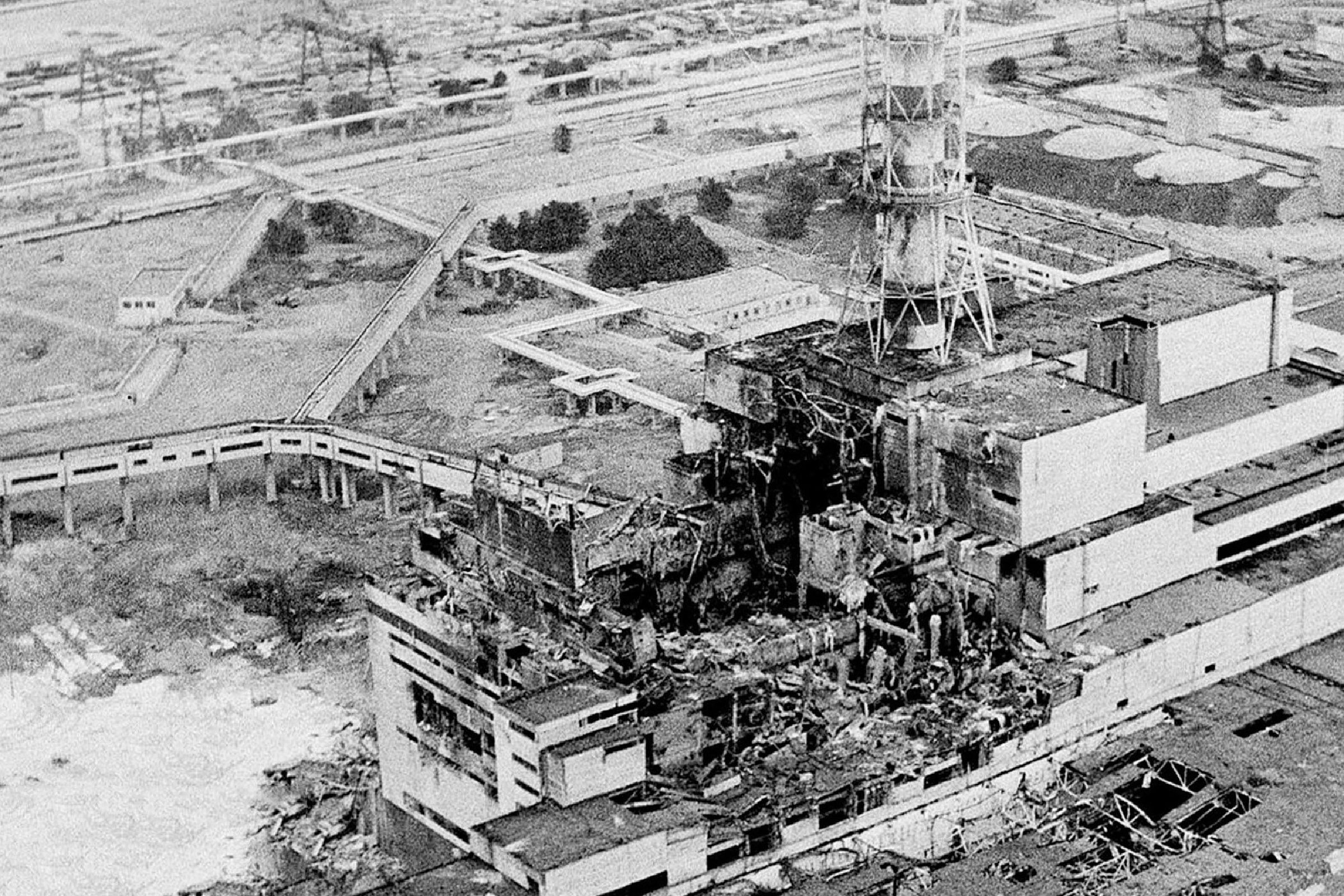 The Chernobyl nuclear power plant, the site of the world's worst nuclear accident, as made two to three days after the explosion in Chernobyl, Ukraine. Japan raised the crisis level at its crippled nuclear plant, to a severity on par with the 1986 Chernobyl disaster, citing high overall radiation leaks that have contaminated the air, tap water, vegetables and seawater. Japanese nuclear regulators said they raised the rating from 5 to 7 _ the highest level on an international scale of nuclear accidents overseen by the International Atomic Energy Agency _ after new assessments of radiation leaks from the Fukushima Dai-ichi plant since it was disabled by the March 11 tsunami