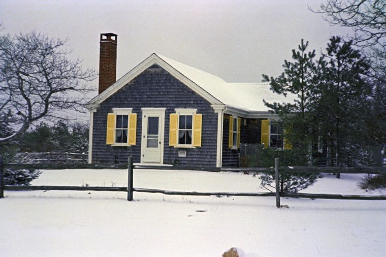 This is the house in Chappaquiddick Island, Martha's Vineyard, where a cook-out was held on where Sen. Edward Kennedy hosted a reunion for campaign workers from Robert Kennedy's presidential campaign. Leaving the party on July 18, 1969, Sen. Edward Kennedy drove a car off the Dyke Bridge on Chappaquiddick island, Martha's Vineyard with campaign worker Mary Jo Kopechne, who downed in the submerged car. The exterior of this house, site of the Kennedy party, was photographed on Jan. 7, 1970