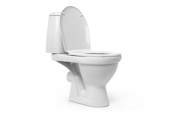 Open toilet bowl isolated on white background. File contains a path to isolation.