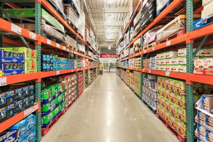 Drug zone of Costco store at East 117th Street, Manhattan on Nov 3, 2015 in New York, USA.