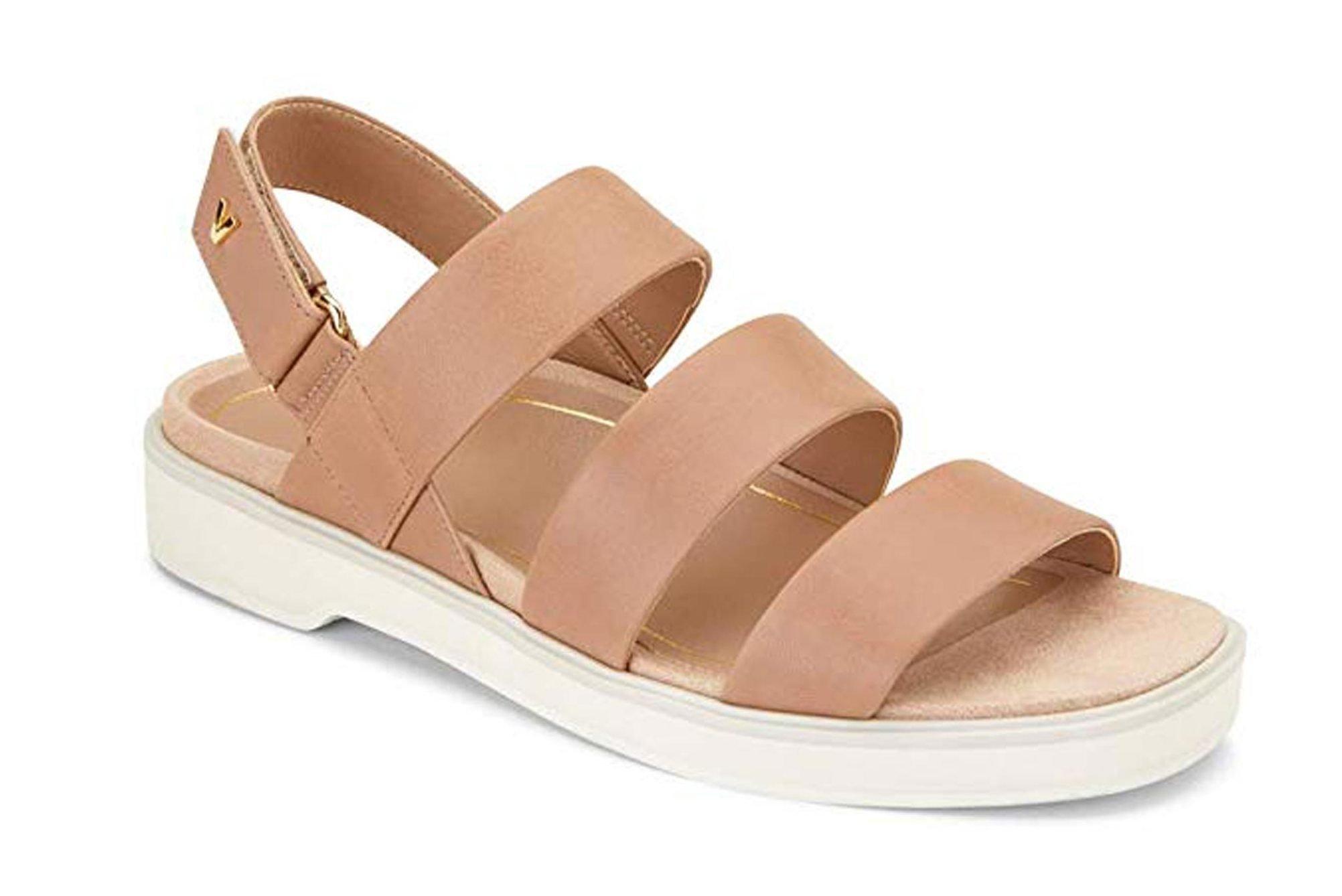 Vionic Women's Leila Keomi Backstrap Sandal - Ladies Concealed Orthotic Support Sandal