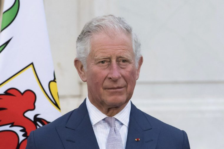Prince Charles, during an evening reception at Villa Massena, Nice