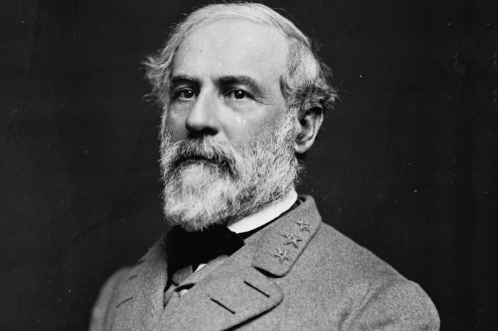 Portrait of Gen. Robert E. Lee, commanding officer of the Confederate Army