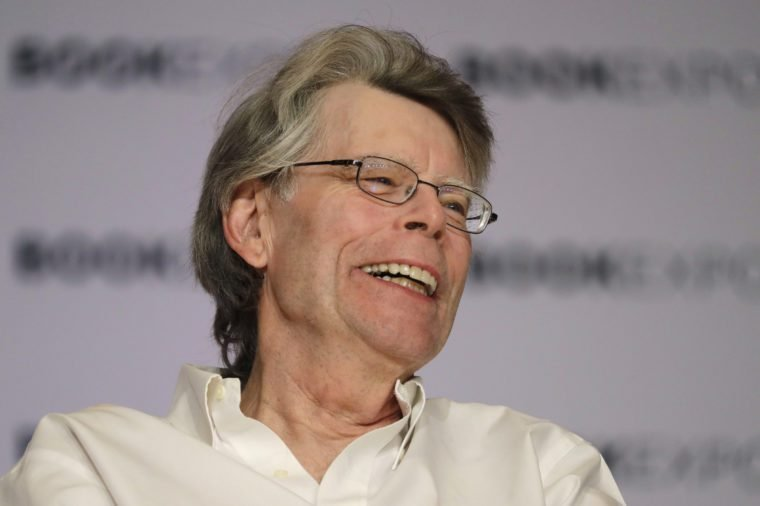 Author Stephen King speaks at Book Expo America, in New York. King and his son, Owen, have co-written a novel, Sleeping Beauties, to be published in September