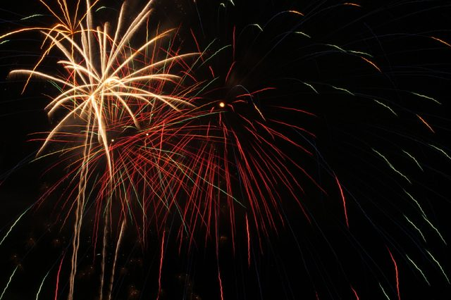 Fireworks from the Fourth of July