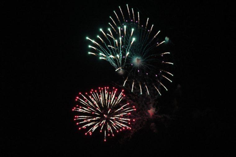 Canada Day fireworks, Bridgewater, NS