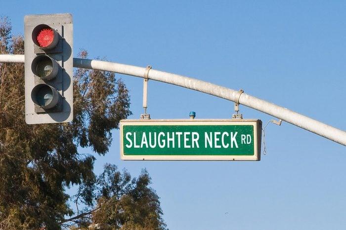 slaughter neck rd.