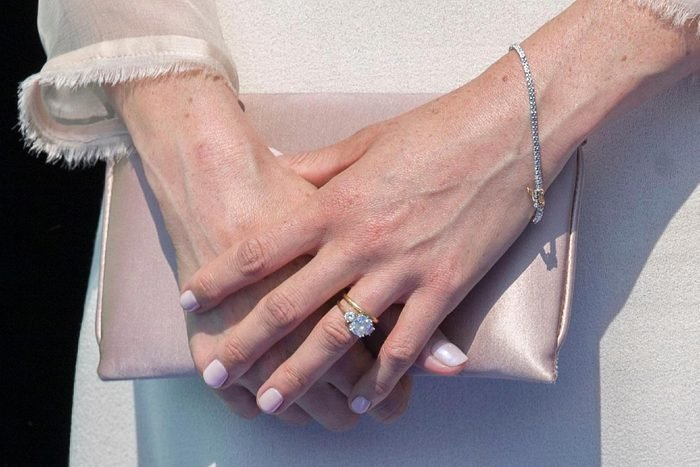 Meghan Duchess of Sussex, ring detail