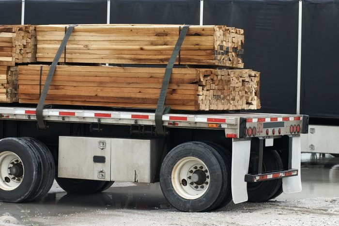 Semi with wood load