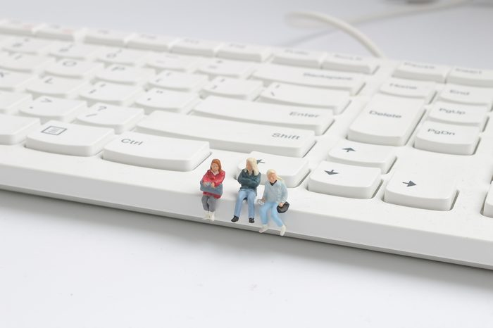 the mini back packers on top of the keyboard.