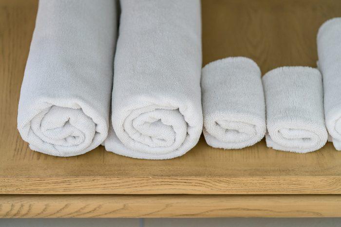 towel in the bathroom