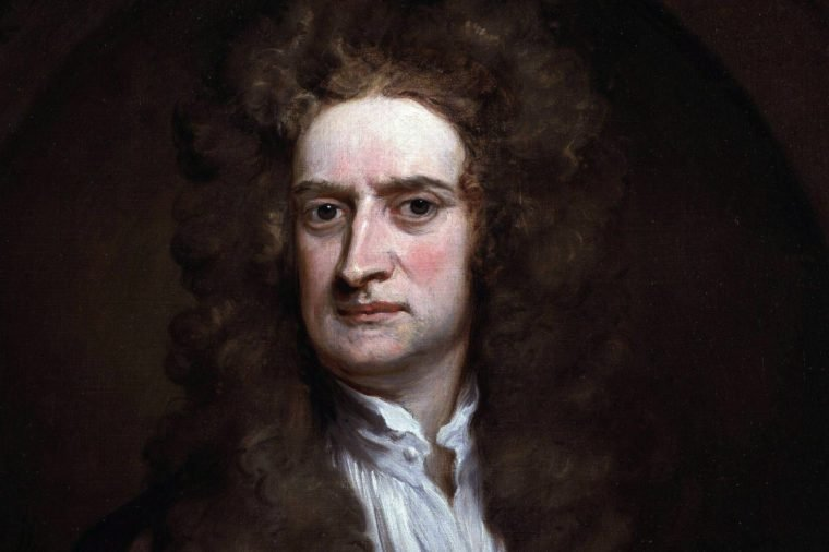 Sir Isaac Newton (1642-1727). Portrait by Sir Godfrey Kneller 1689. Newton was an English physicist, mathematician, astronomer, natural philosopher, alchemist, and theologian considered to be one of the most influential people in human history.