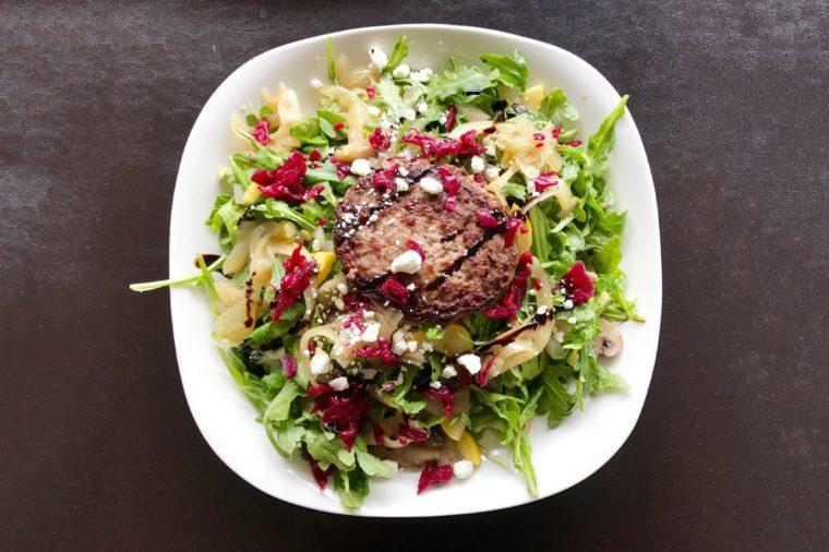 Easiest Burger Salad
