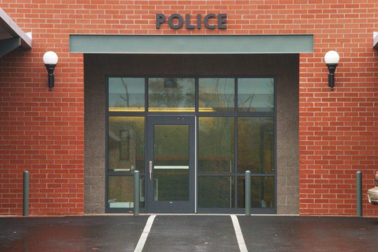 Roseburg Police Department entrance into the new Public Safety Center in Roseburg Oregon