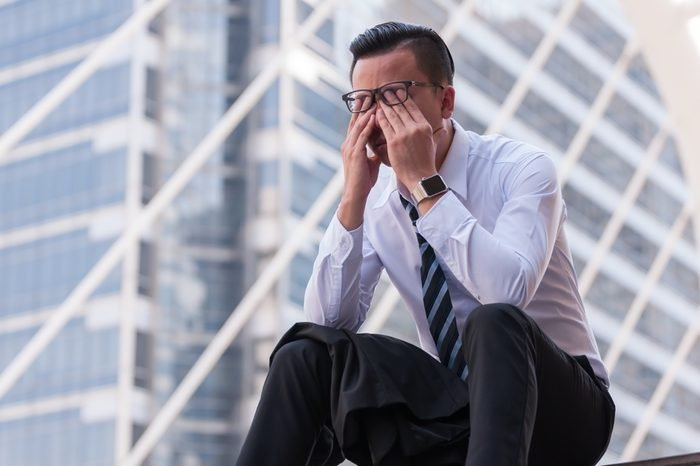 Frustrated business people has crisis problem with their jobs, feeling upset business concept.