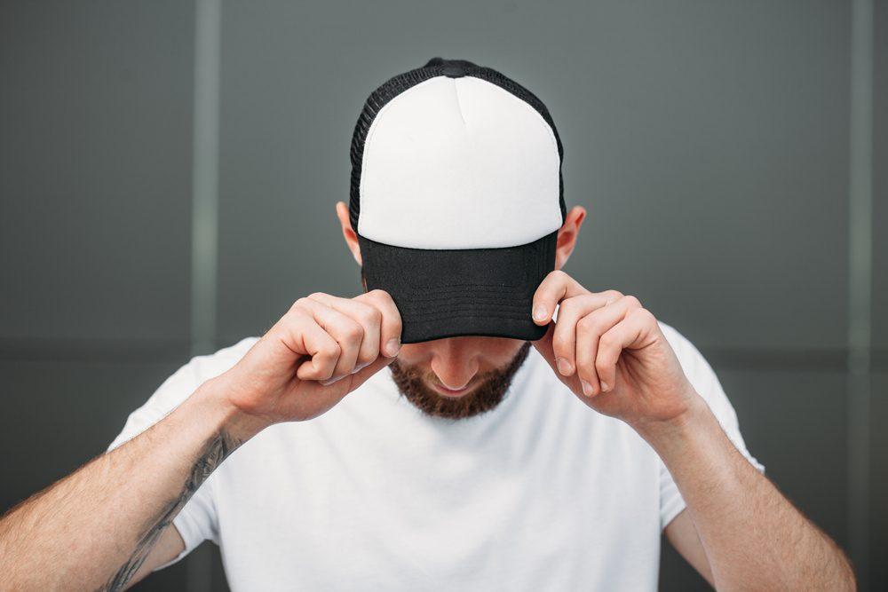 Baseball cap empty mock up