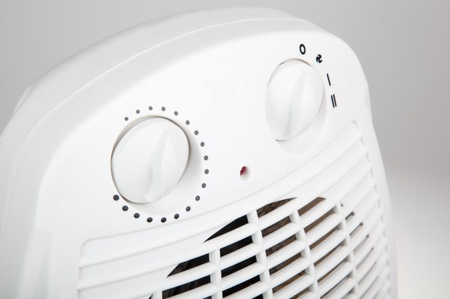 close up of portable electric heater