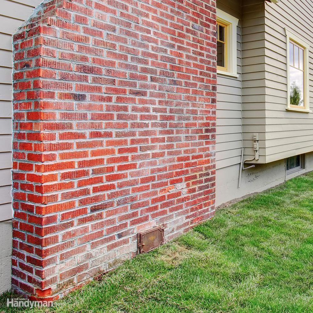 efllorenscence on chimney brick