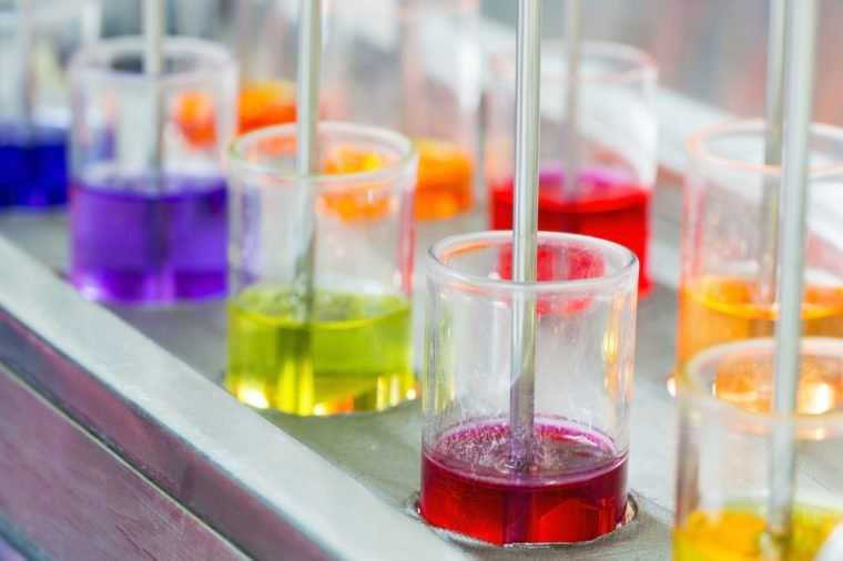 multi color of textile dye