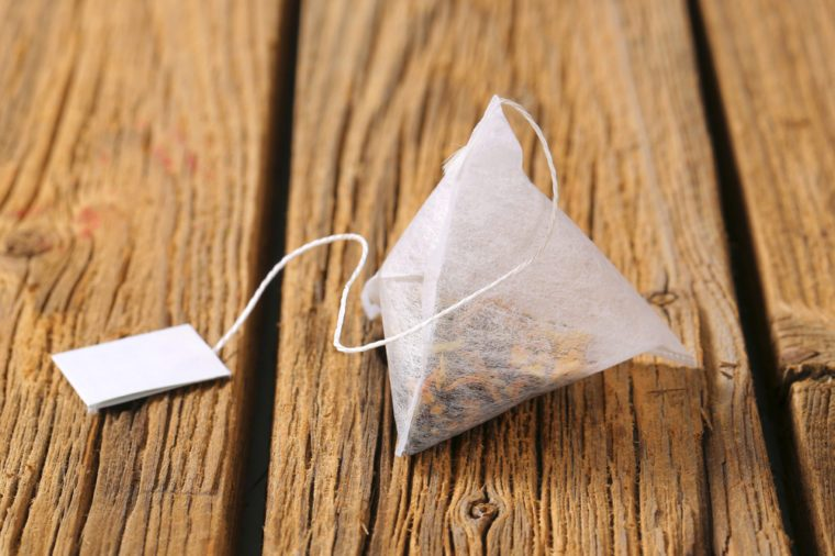 jasmine tea bag with string