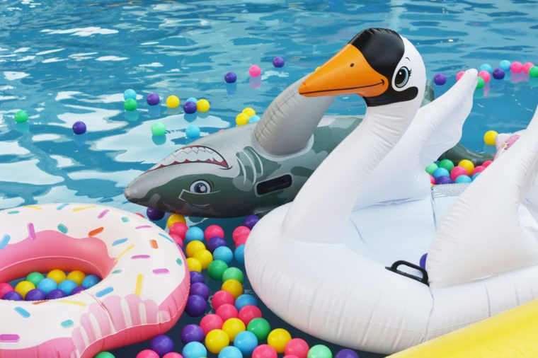 Inflatable goose bird toy swim ring swim tube