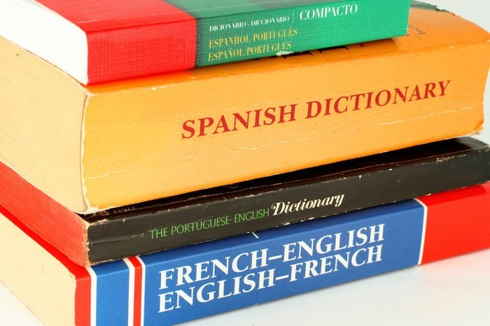 different language dictionaries