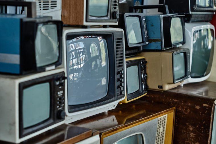 old vintage television set