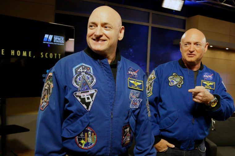 Scott Kelly, Mark Kelly NASA astronaut Scott Kelly, left, and his twin Mark get together before a press conference in Houston. Scott Kelly set a U.S. record with his a 340-day mission to the International Space Station. Kelly is exploring lots of options for the next step in his life. But he's saving the serious job discussions for retirement, coming up April 1. His identical twin, Mark, retired as an astronaut soon after the shuttle program ended in 2011, yet agreed to medical testing as part of the unprecedented twins study that got under way well before Scott's March 2015 launch from Kazakhstan