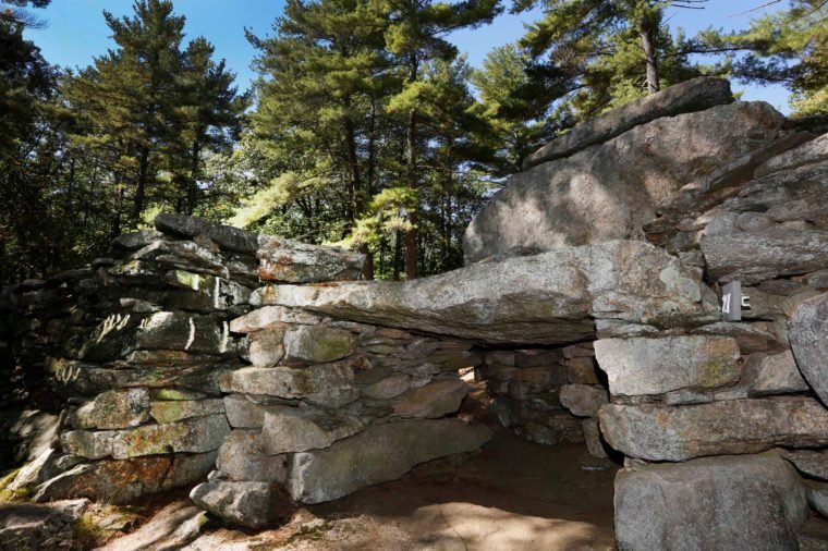 A rock formation is seen at what is called America's Stonehenge, in Salem, N.H. The 1-acre grouping of rock configurations has drawn believers to say it is thousands of years old. Skeptics say the evidence suggests it was put together by a 19th century shoemaker