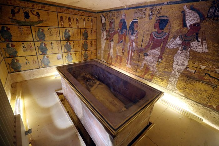 An Interior View of the King Tutankhamun Burial Chamber in the Valley of the Kings Luxor Egypt 28 November 2015 Scanning Works Were Conducted Inside King Tutankhamun's Tomb For Two Days the Country's Minister of Antiquities Dr Mamdouh Eldamaty Said at a Press Conference on 28 November 2015 That the Preliminary Results of the Radar Scans Indicated the Existence of an Unknown Burial Chamber Behind That of the Boy King's British Archaeologist Nicholas Reeves Believes That the New Chamber Could Be the Last Resting Place of Queen Nefertiti King Tut's Mother-in-law Egypt Luxor