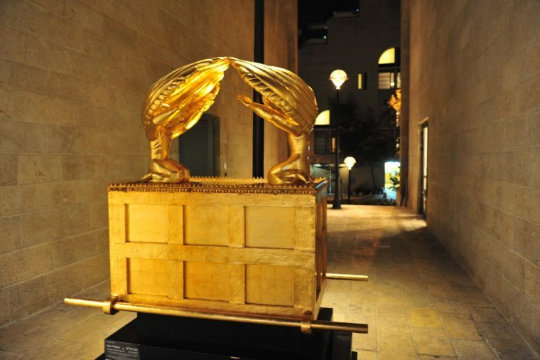 The Ark of the Covenant statue in Mamilla shopping mall, Jerusalem