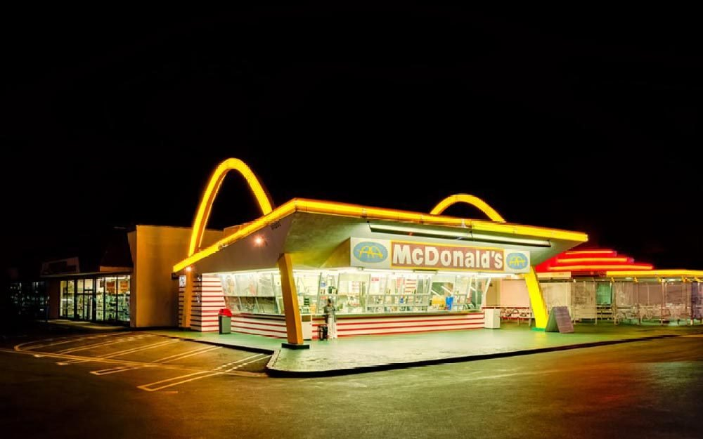 LOS ANGELES, USA - MARCH 31: The oldest operating McDonald's restaurant in the world in Downey, Los Angeles, California, USA on March 31, 2013. It opened on August 18, 1953.