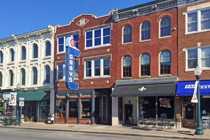 FRANKLIN, TN-JUNE 29, 2016: Downtown Franklin, voted one of the best towns to live in America.