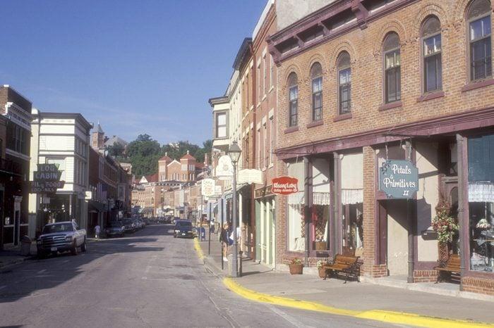Illinois, Galena, Historical town of Galena along main street.