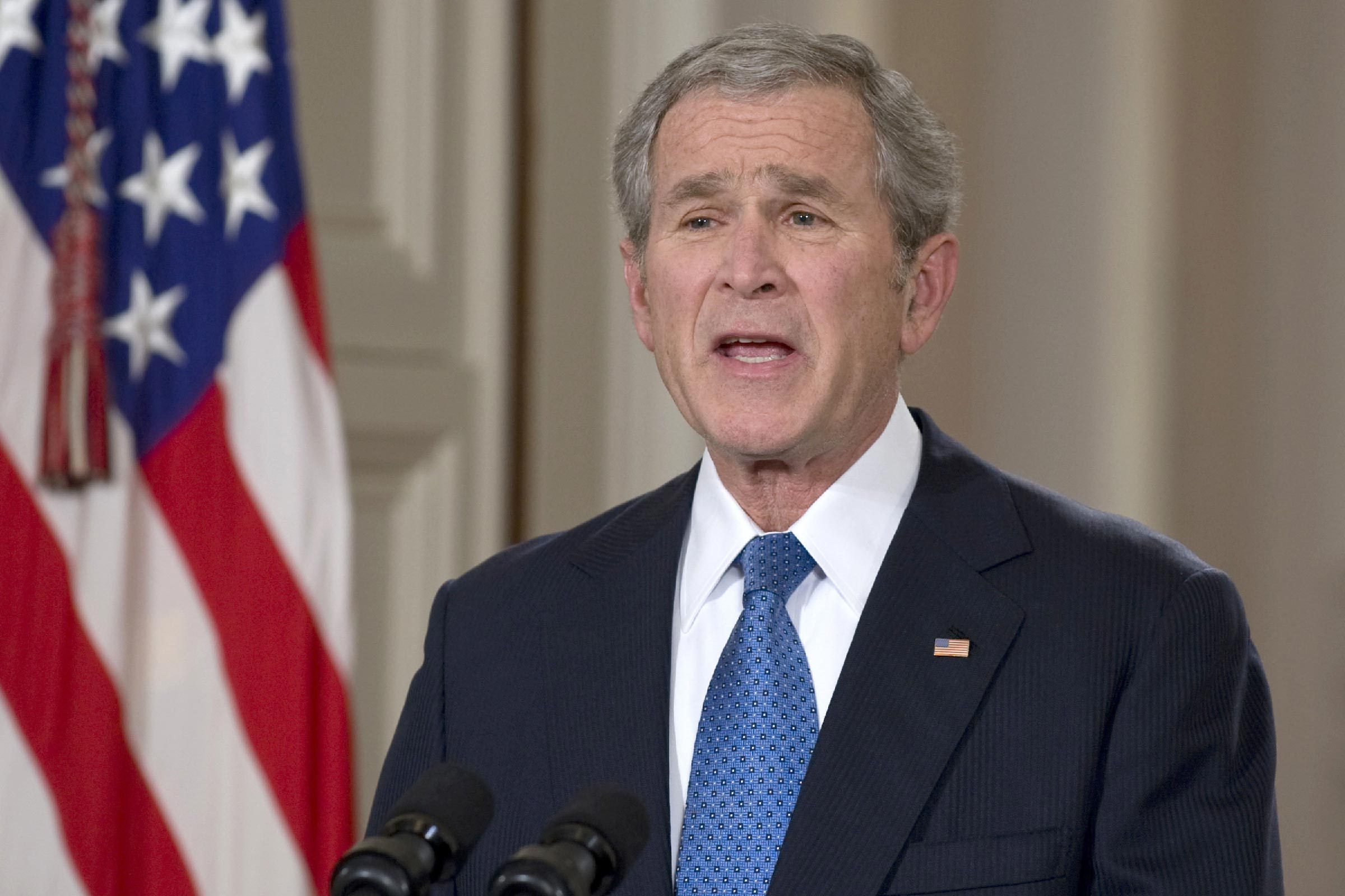 United States President George W. Bush Delivers His Farewell Speech to the Nation from the East Room of the White House in Washington, D.C., America - 15 Jan 2009