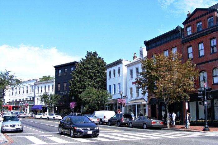 Street scene in Georgetown, Washington, D.C., USA (09/21/2008)