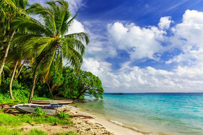 Tabuaeran beach on the Fanning Island, Republic of Kiribati