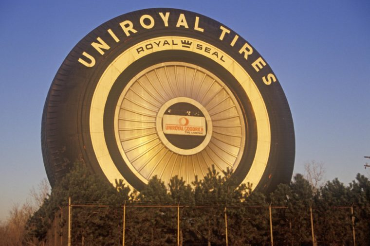 Giant Uniroyal Tire display, Detroit, Michigan