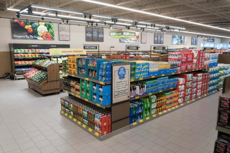 Interior of Aldi