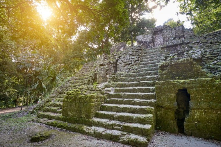 Ancient Maya Ruins, Tikal National Park, Yucatan, Guatemala