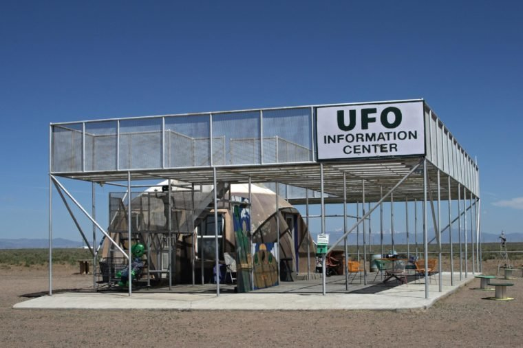 ALAMOSA, COLORADO - MAY 29, 2010: UFO Watchtower and information center near Alamosa, Colorado