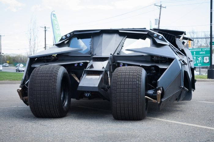 APRIL 26, 2015 - Woodbridge, NJ: A replica of the Batmobile Tumbler from The Dark Knight is shown at the Cars of the Hollywood Screen car show.