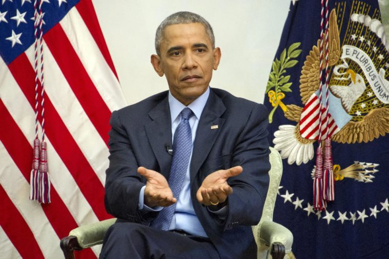 Barack Obama interview on ACA, Washington DC, USA - 06 Jan 2017