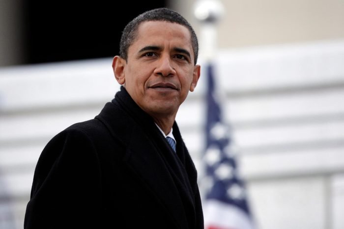 """Barack Obama President-elect Barack Obama looks to the crowd as he leaves the """" We are One: Opening Inaugural Celebration at the Lincoln Memorial"""" in Washington"""