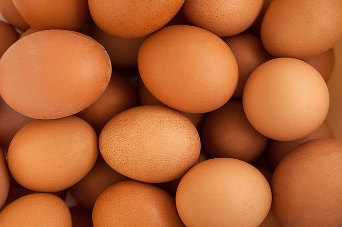 A lot of brown eggs