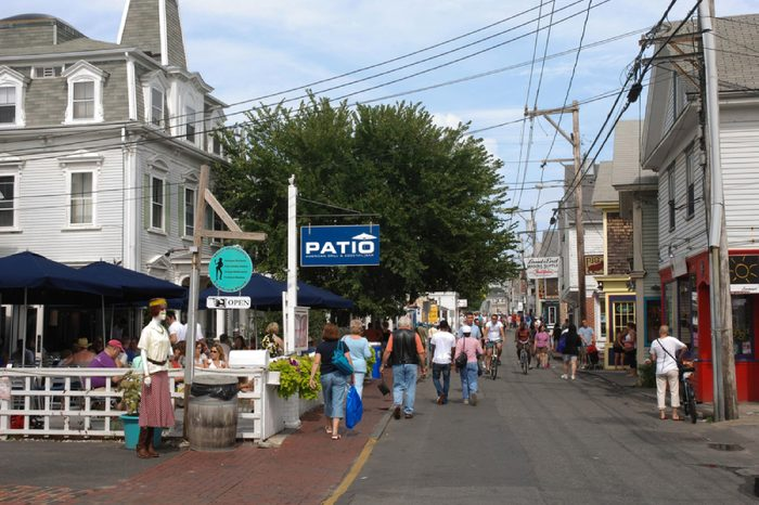 Cape Cod, Massachusetts - September 2017: Main street of Provincetown