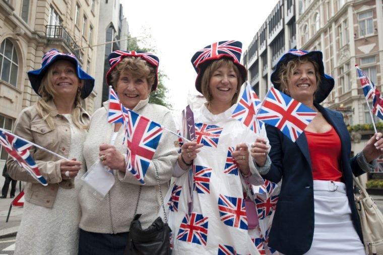 Royal Wedding Fans Show Their Spirit Decked out in Union Jacks